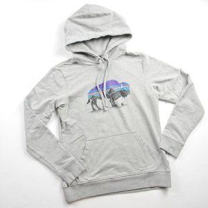 PATAGONIA Logo Organic Buffalo Hoodie Sweatshirt